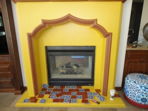 Fireplace After Paint Color
