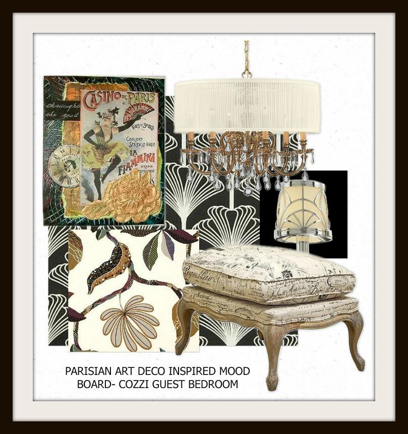 Parisian Art Deco Bedroom Mood Board
