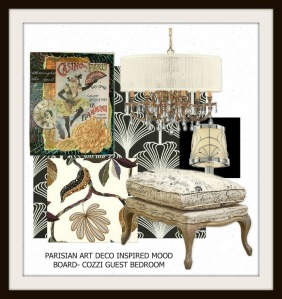 Parisian Art Deco Bedroom-Mood Board