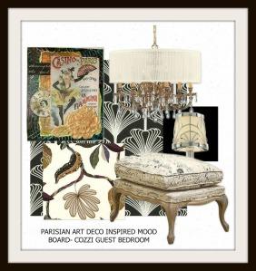Parisian Art Deco Bedroom-Mood Board