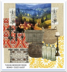 Tuscan Bedroom-Mood Board