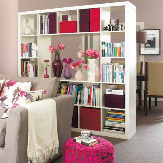 10 unexpected storage spots interior design scottsdale - Open shelving living room ...
